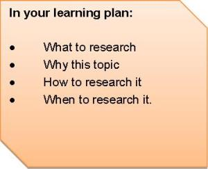 Research learning plan